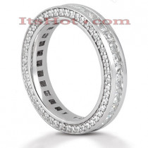 Platinum Diamond Eternity Band 1.93ct