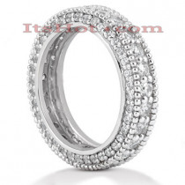 Platinum Diamond Eternity Band 2.06ct