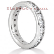 Platinum Diamond Eternity Band 2.20ct