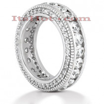 Platinum Diamond Eternity Band 2.90ct
