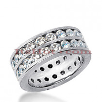 Platinum Diamond Eternity Band 3.08ct