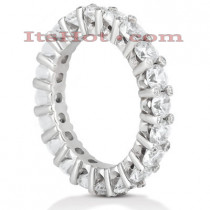 Thin Platinum Diamond Eternity Band 3.10ct