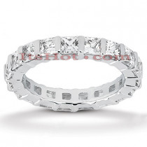 Thin Platinum Diamond Eternity Band 3.23ct