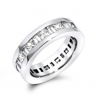 Platinum Diamond Eternity Band 4.29ct