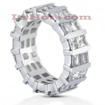 Platinum Diamond Eternity Band 5.12ct