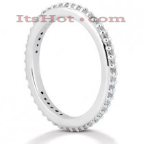 Thin Platinum Diamond Eternity Ring 0.46ct