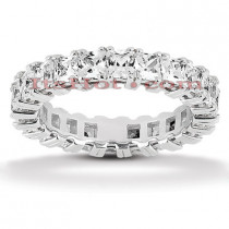 Platinum Diamond Eternity Ring 3.74ct