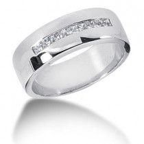 Platinum Diamond Men's Wedding Band 0.45ct