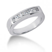 Platinum Diamond Men's Wedding Ring 0.60ct