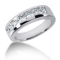 Platinum Diamond Men's Wedding Ring 1.89ct