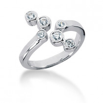 Platinum Diamond Right Hand Ring 0.30ct