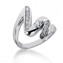 Platinum Diamond Right Hand Ring 0.35ct