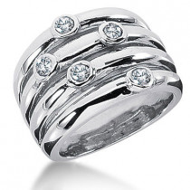 Platinum Diamond Right Hand Ring 0.50ct