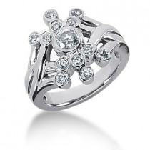 Platinum Diamond Right Hand Ring 0.62ct