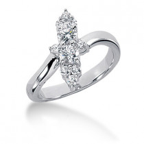 Platinum Diamond Right Hand Ring 0.64ct