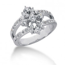 Platinum Diamond Right Hand Ring 0.66ct