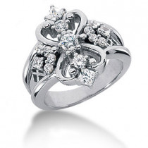 Platinum Diamond Right Hand Ring 0.73ct