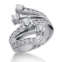 Platinum Diamond Right Hand Ring 2.14ct