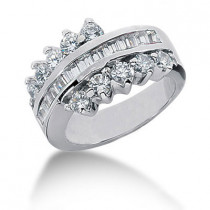 Platinum Diamond Right Hand Ring 2ct