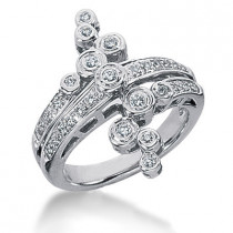 Platinum Diamond Right Hand Womens Ring 0.36ct