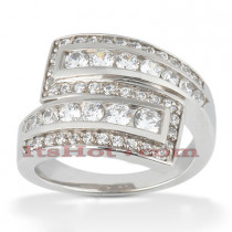 Platinum Diamond Right Hand Womens Ring 1.20ct