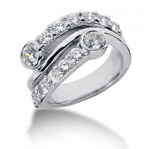 Platinum Diamond Right Hand Womens Ring 1.76ct