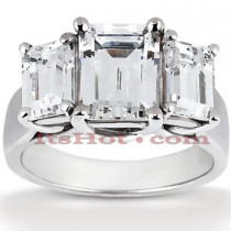 Platinum Diamond Three Stones Engagement Ring 1.16ct