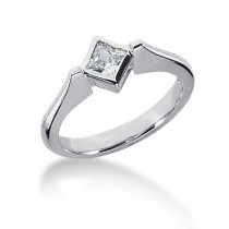Ultra Thin Platinum Ladies Diamond Ring 0.30ct