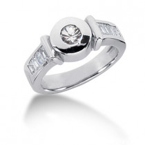 Platinum Ladies Diamond Ring 0.69ct