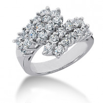 Platinum Ladies Diamond Ring 0.75ct