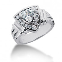 Platinum Ladies Diamond Ring 0.80ct
