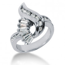 Platinum Ladies Diamond Ring 0.86ct
