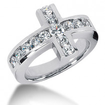 Platinum Ladies Diamond Ring 0.94ct