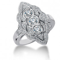 Platinum Ladies Diamond Ring 0.96ct