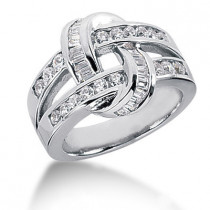 Platinum Ladies Diamond Ring 1.08ct