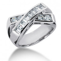 Platinum Ladies Diamond Ring 1.12ct