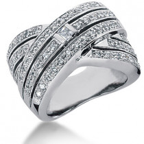 Platinum Ladies Diamond Ring 1.13ct