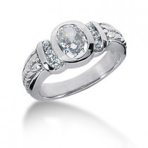 Platinum Ladies Diamond Ring 1.18ct