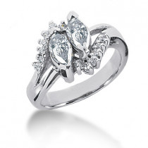 Platinum Ladies Diamond Ring 1.21ct