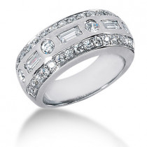 Platinum Ladies Diamond Ring 1.24ct
