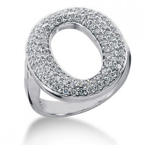 Platinum Ladies Diamond Ring 1.29ct