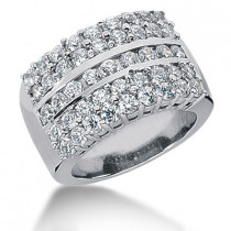 Platinum Ladies Diamond Ring 1.35ct