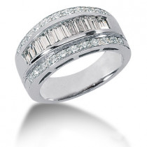 Platinum Ladies Diamond Ring 1.41ct