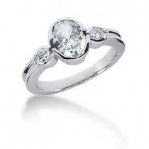 Thin Platinum Ladies Diamond Ring 1.43ct
