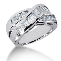 Platinum Ladies Diamond Ring 1.43ct