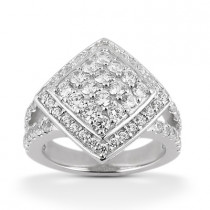 Platinum Ladies Diamond Ring 1.47ct