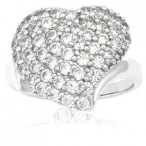 Thin Platinum Ladies Diamond Ring 1.50ct