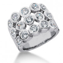 Platinum Ladies Diamond Ring 1.50ct