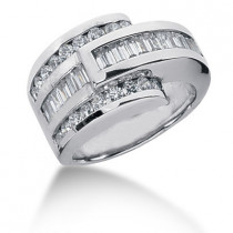 Platinum Ladies Diamond Ring 1.53ct