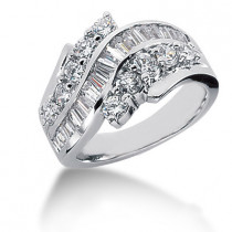 Platinum Ladies Diamond Ring 1.68ct